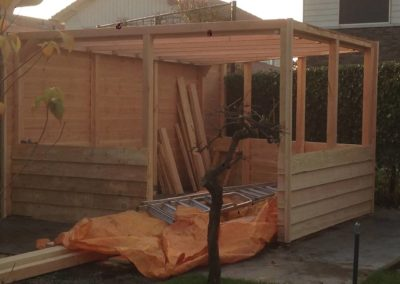 Jaspers Timmerbedrijf overkapping tuinhuizen serres